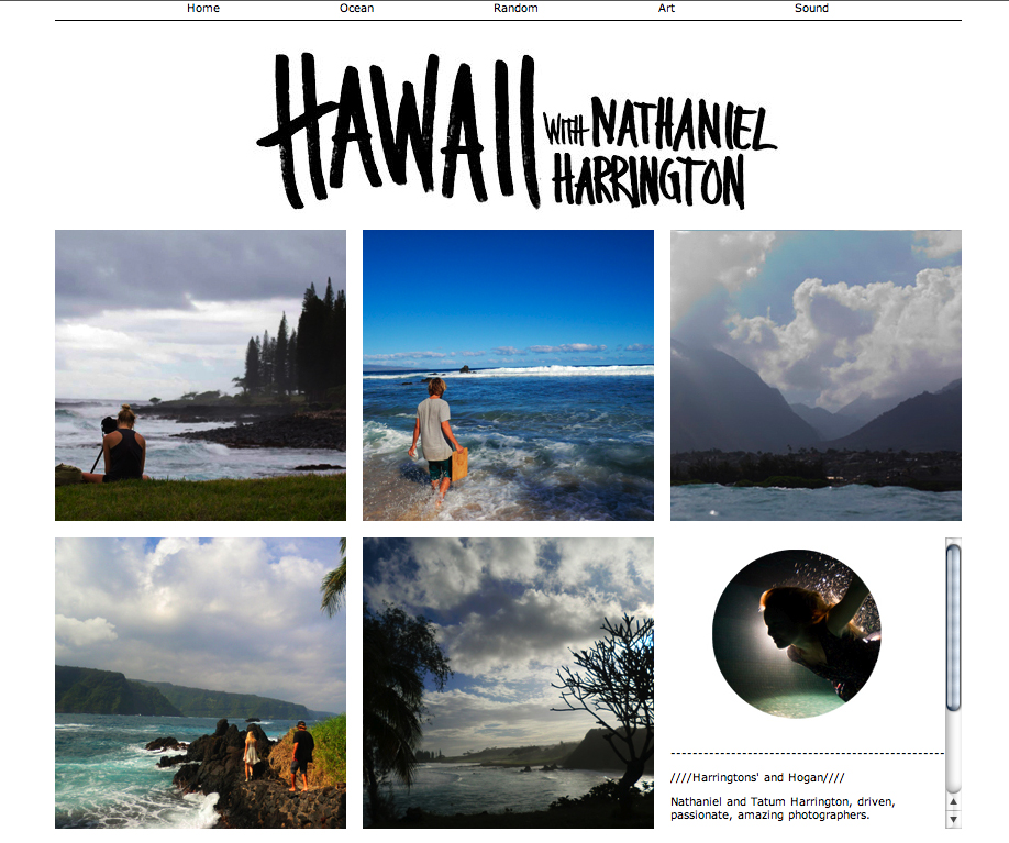 Porter Hogan's trip to Maui was fruitful. He made albums of images on his personal website.