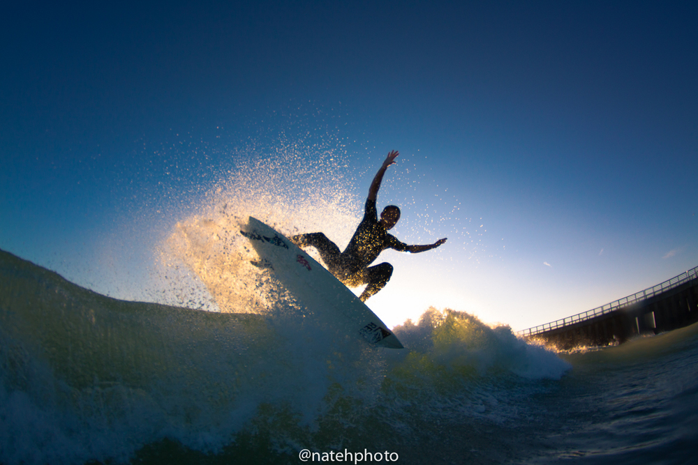 The backlit Chauncey Robinson crushing it. Sebastian Inlet, Florida.