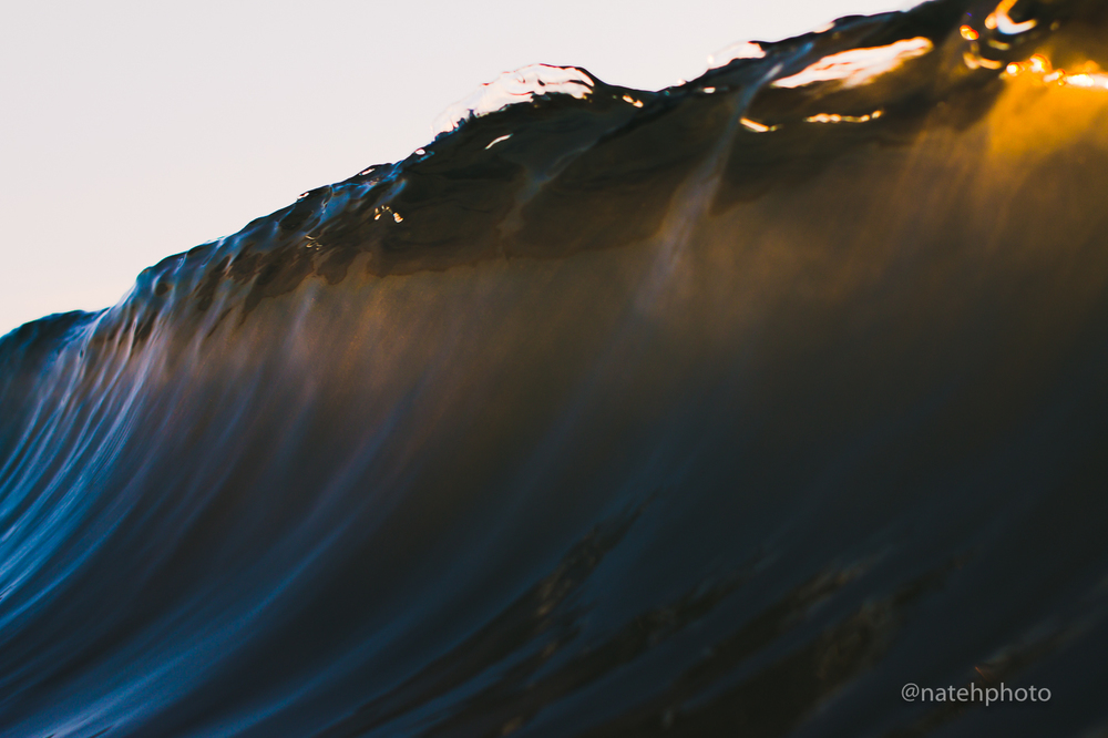 A little light through the back of the wave.