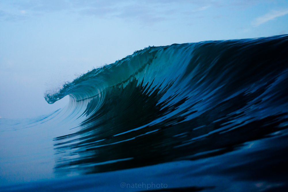 This is probably my favorite image from the shoot. The surf was so calm that the reflections of the barrels were the only way to determine where the wave was actually breaking. My photos make a clearer, more distinctive look than how it was in the moment. Its good that the camera captures more than the eye.