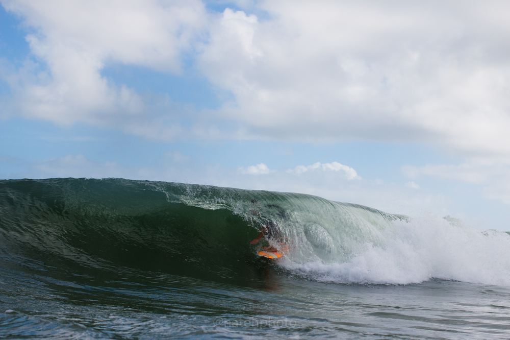 And of course Blake Speir is not going to let dad surf alone, he'll be in the barrels as much as his pops.