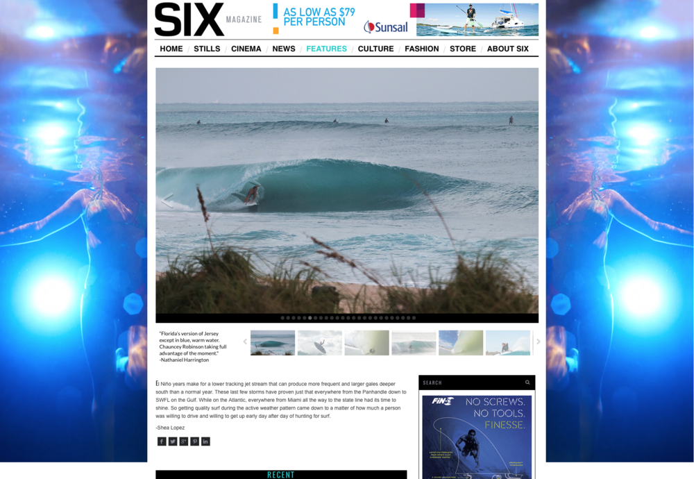 SixMagazine.com is a great place to see the latest happenings for the east coast. Pictured is Chauncey Robinson driving through a nugget in the January 2016 Winter Swell Story.