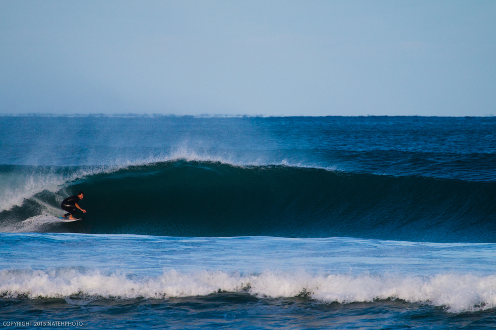 I first met Matt Oberman on a very similar wave in Nicaragua called Colorados, he was doing the same thing there as he is here.