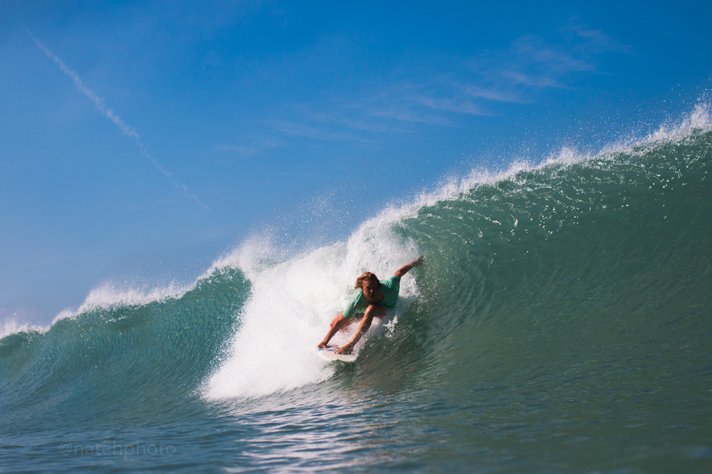 Jade Morgan Surfing at Sebastian Inlet, FL. Photography by Nathaniel Harrington