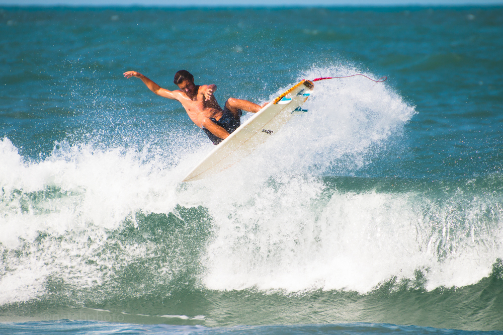 Andrew Slaughter surfing Sebastian Inlet, photo by Nathaniel Harrington