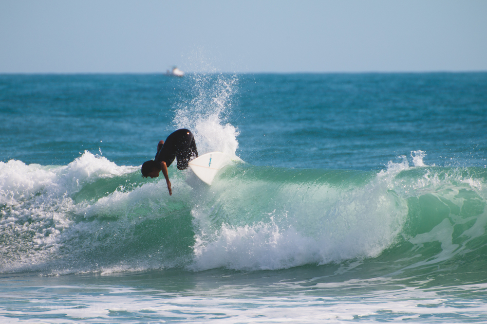 Chase Modelski surfing at Sebastian Inlet, Florida. Photos by Nathaniel Harrington (natehphoto)