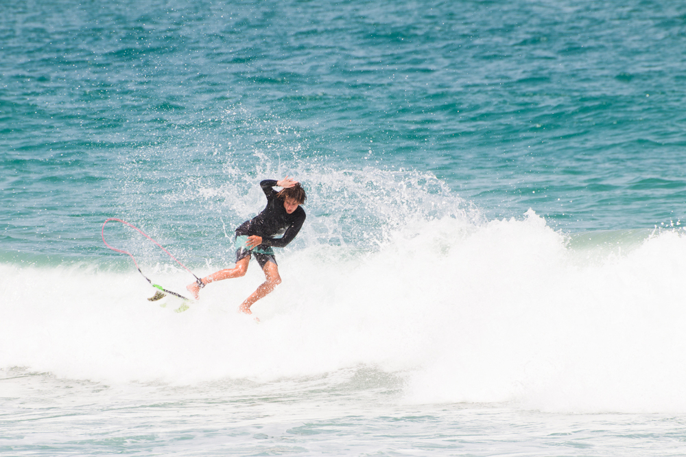 Chase Modelski surfing at Sebastian Inlet, Florida. Photos By Nathaniel Harrington.