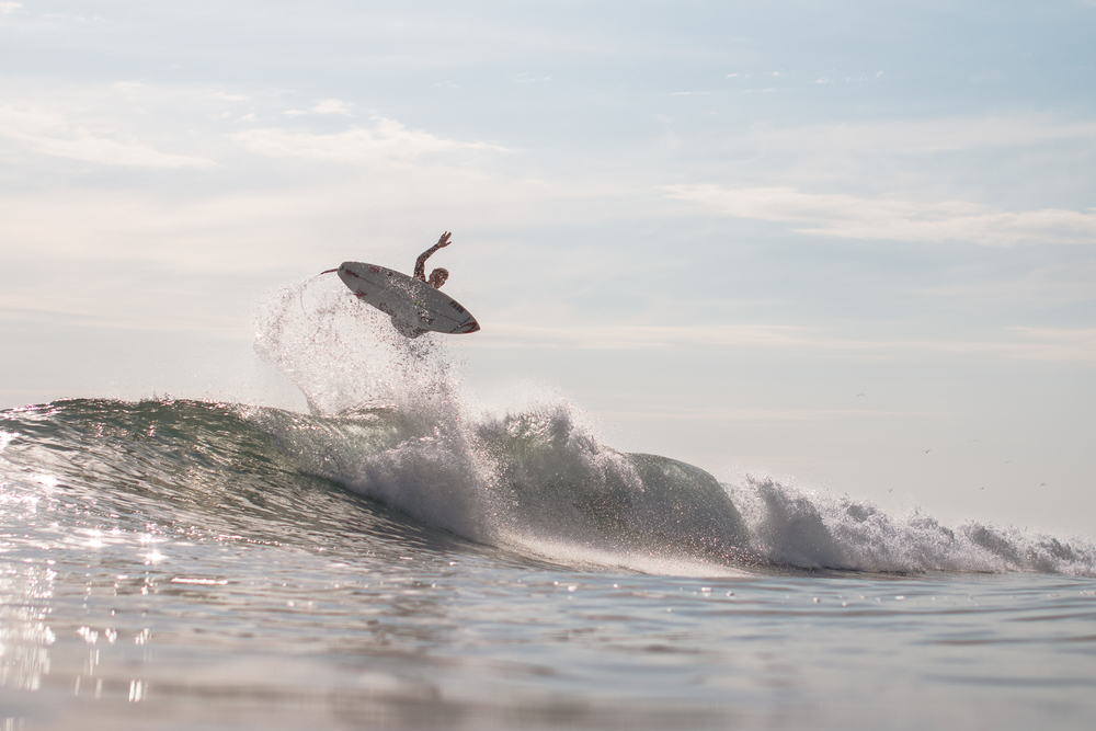 Luke Gordon boosting the air section at Lowers.