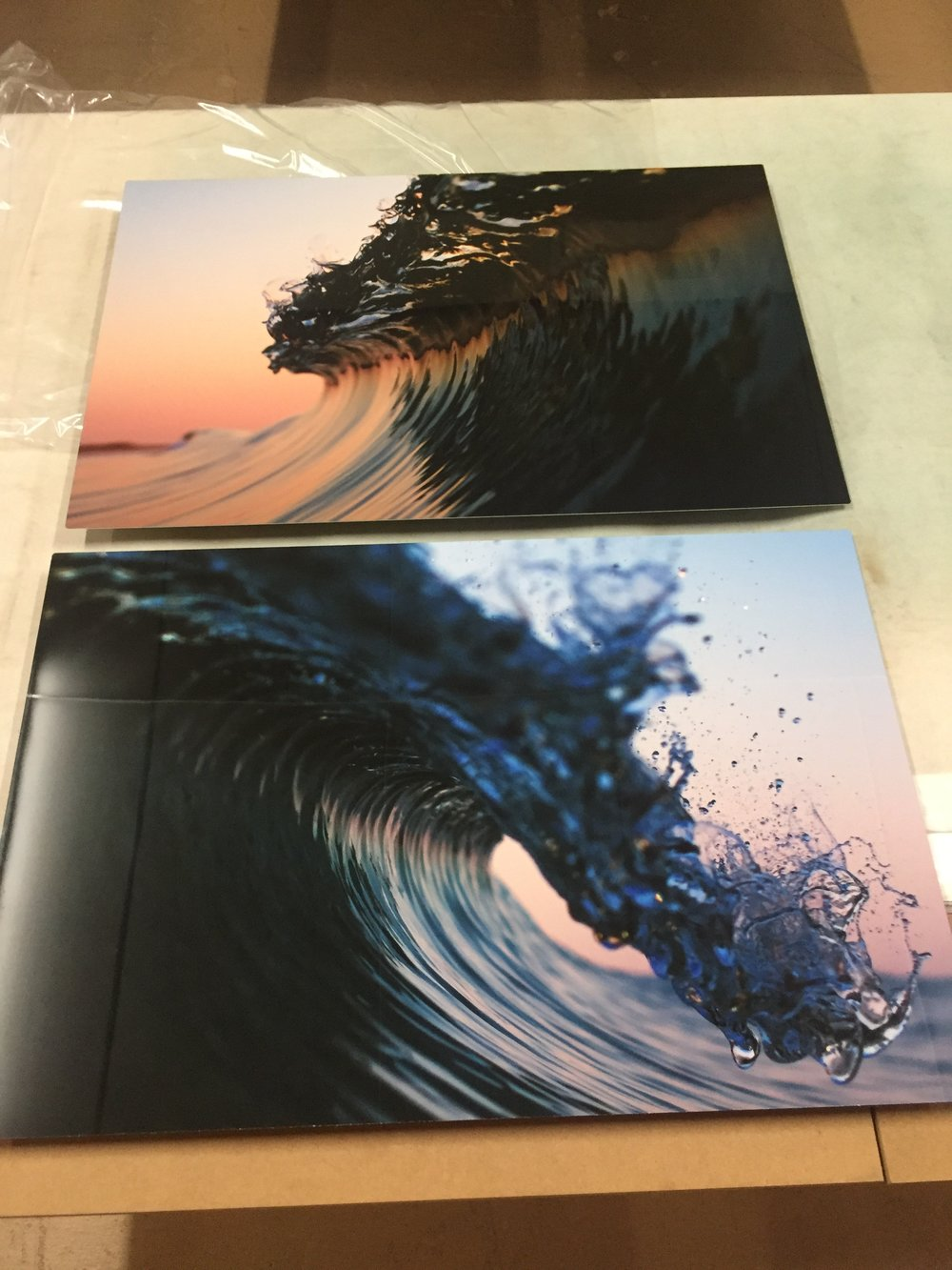 These images are both captured in Vero Beach, Florida. Now sublimated onto Aluminum with a float mount they are ready to hang on a wall. The Aluminum Prints have a tendency to make the water look real, so gazing at these really puts you back in that moment.