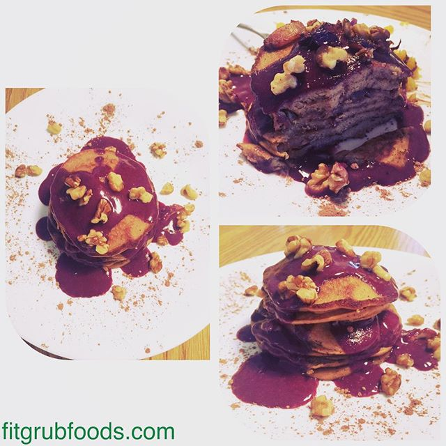 Grain-free pancakes topped with walnuts and our blueberry compote. Delish! What's on your breakfast plate this Saturday morning? #paleo #glutenfree #pancakes #bluberry #foodporn #breakfast #fitfuel #fueledbyfitgrub #fitfood @barbellshruggedpodcast @a_hudson @a_silk_trainer @llbrians @carrotsandcake @crossfit_and_macros @crossfitsurfer @crossfit_raeford @paleo_life_crossfit_love @crossfitguild @cfinvoke @dianesanfilippo @dianefu @mblashfield @megreichert86 @bparks88 @lauraj_civil05 @cydgonzales98 @samdancing @bicepslikebriggs @klokovd @fatbarapparel @wodcastpodcast @barbellshruggedpodcast @barbellbusiness @paleofirefighter @klara_rossouw @ravrad @vballgrl9
