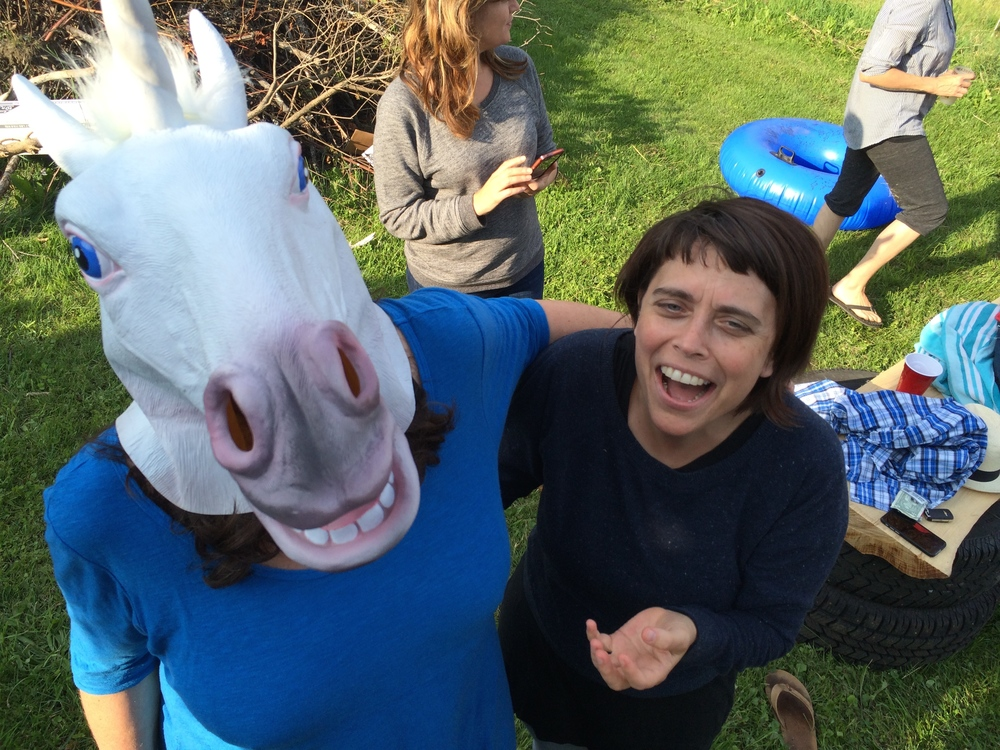 Kathleen Judge, a real-life Unicorn with Jacinta Bunnell. U is for Unicorn.