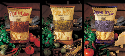 The concept was to take the viewer from harvest, to market, to kitchen. If all three bags were lined up the illustration created a complete tryptech. My part in the project was primarily as art director and account executive. I worked with an illustrator out of California. As well I handled much of the production, including up areas of the illustration that needed to be opened up to counter the printing process.