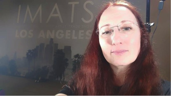Sara taking a selfie before hosting a class at IMATSLA.