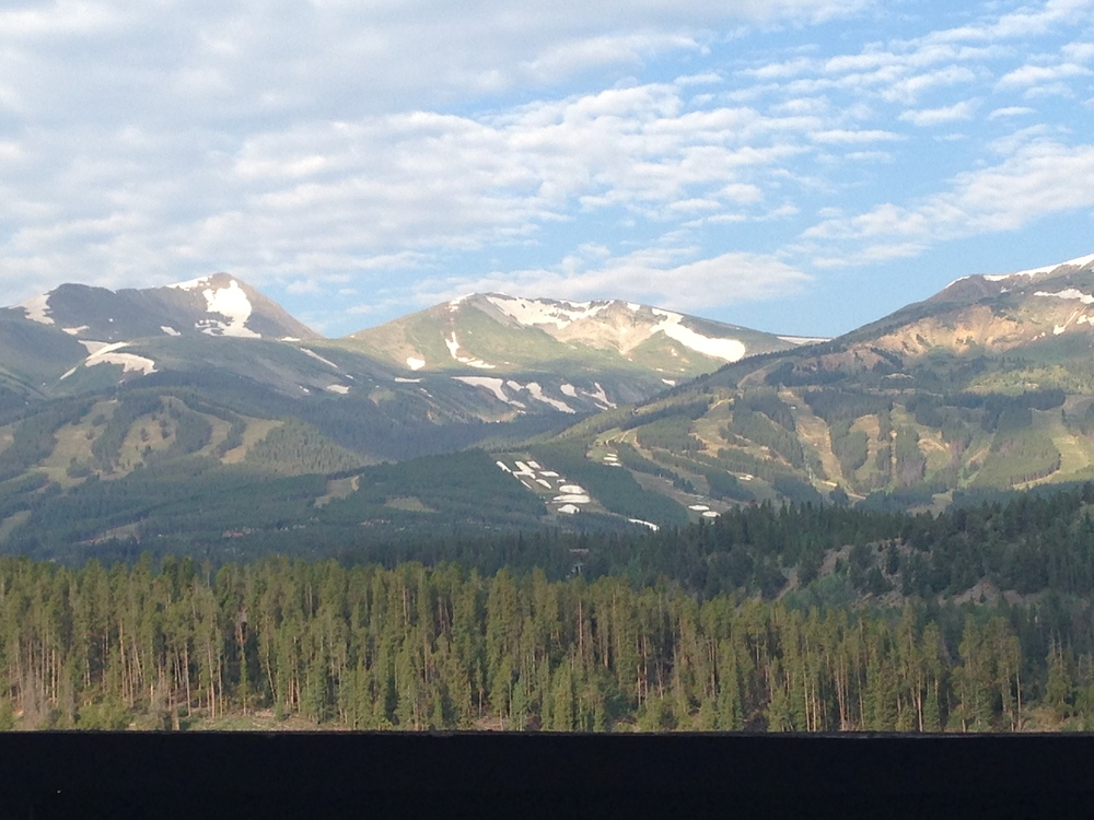 View of Breckenridge Ski Resort from our neighbors' deck