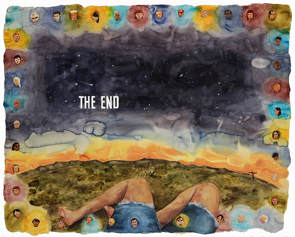 Space For All Endings, 2013.  40 x 60 inches, watercolor on paper  Sold