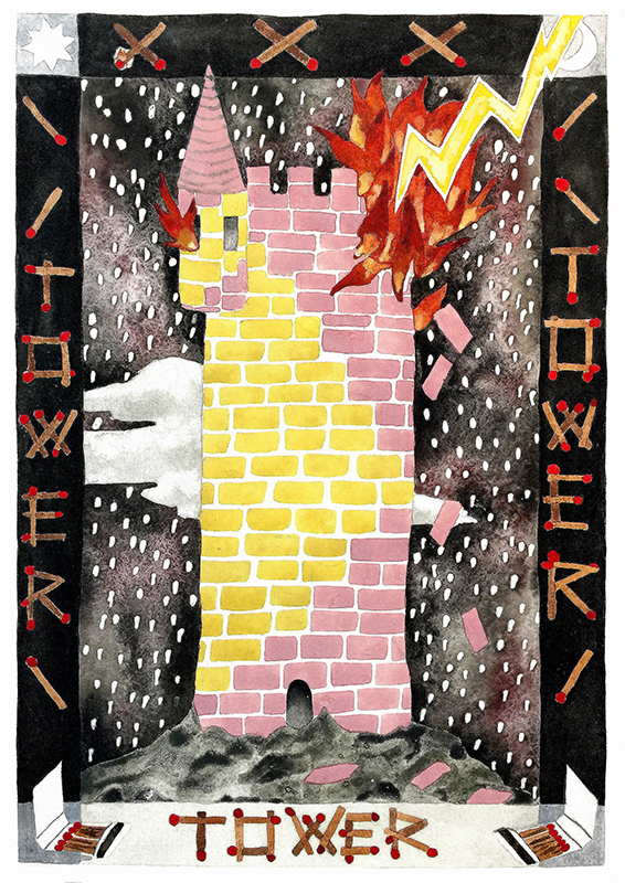 Tarot Card- THE TOWER