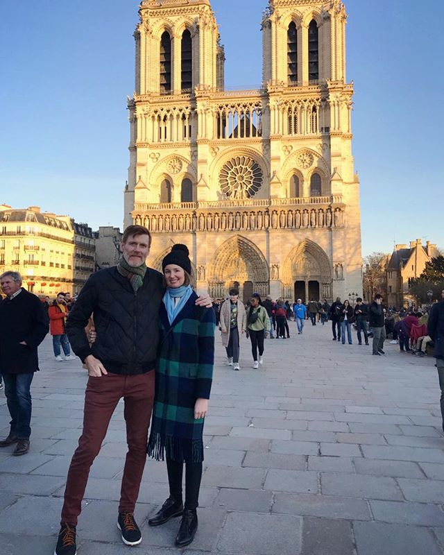 🖤Guess where we went! Trip to Paris and to see this medieval mothership, it took over 300 years to build 1100s-1300s #notredame 🖤