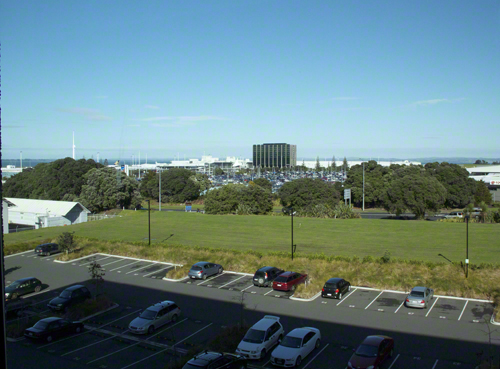 Blue skies and a chill in the air mark my first official day in New Zealand. Shot from the Hotel Ibis Budget Auckland Airport. Okay, not an impressive shot, but I was excited! Yeehah!