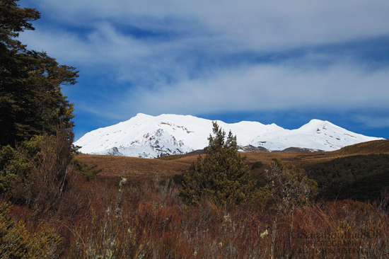 Mt. Ruapehu and I are smiling because the clouds have lifted!