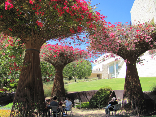 I think I might have been more impressed with the amazing works of art in the garden of The Getty, Los Angeles 2011