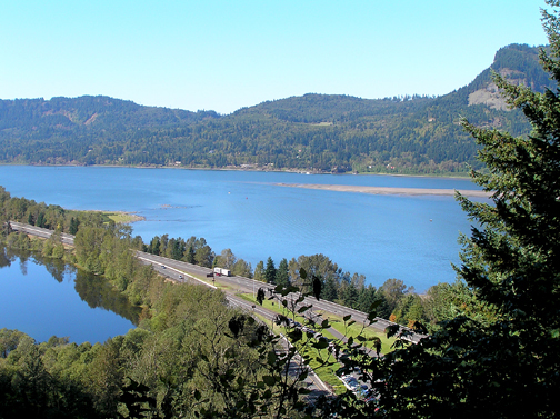 Columbia River sits between Oregon and Washington State, which is right across the waterway.