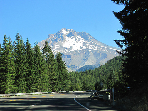 On the road to Timberline Resort.