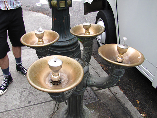 Learned about these cool Benson Bubblers on a city tour. These bronze drinking fountains are located around Portland, available to quench the thirst of passersby. It's named after businessman and philanthropist Simon Benson (1852–1942).