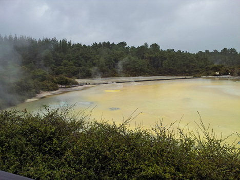 Located about a 30-minute drive from Rotorua sits Wai-O-Tapu Thermal Wonderland...what doesn't sound exciting about its name? This is Artist's Palette.