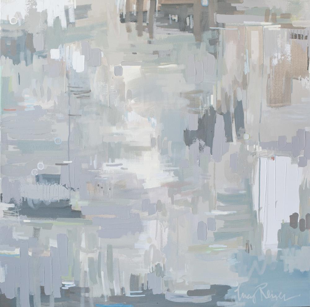 """Cloud Veil , Mixed Media on Canvas, 40 x 40"""""""