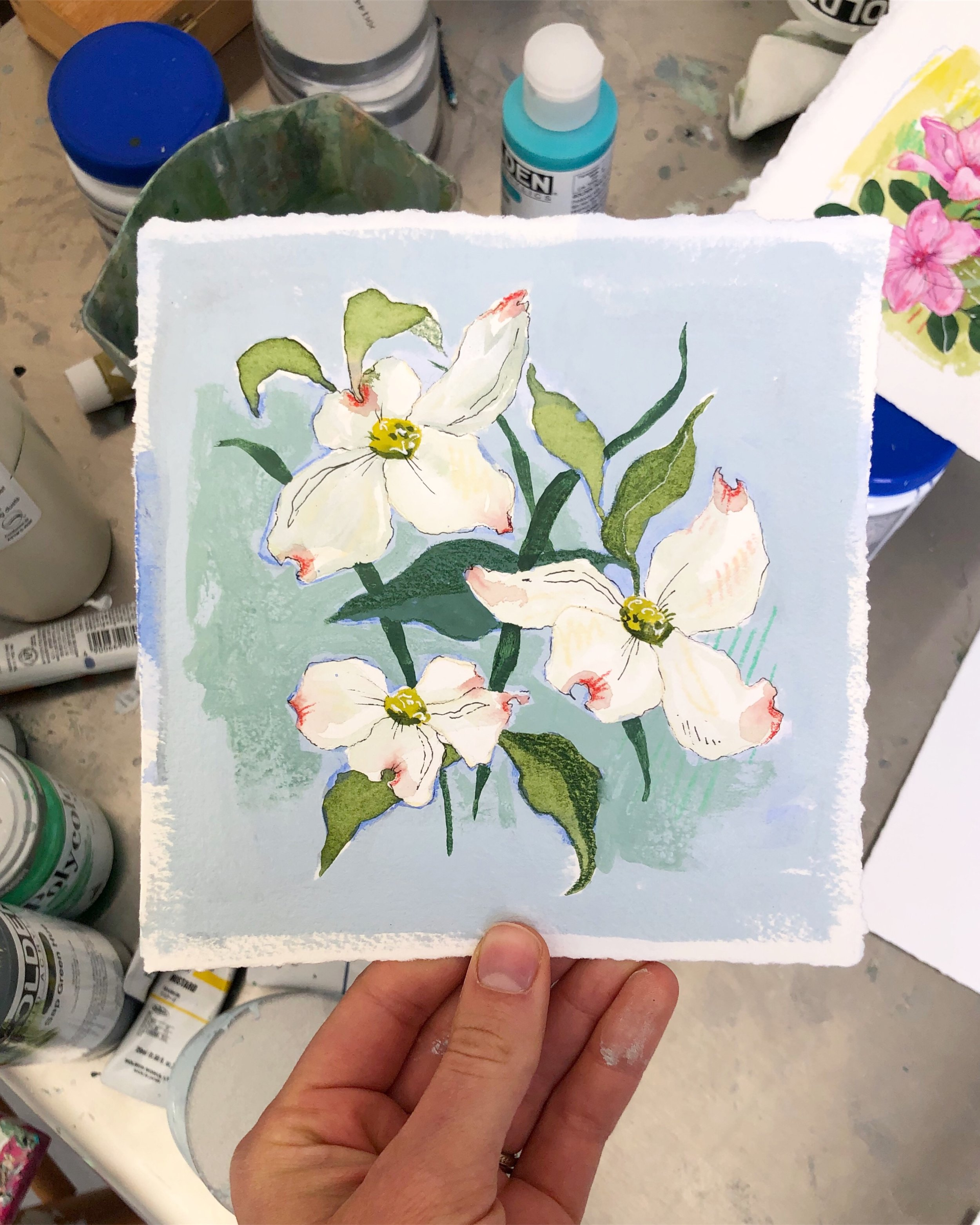 The first Dogwood to inspire the Abstract Botanical series, coming May 2nd!