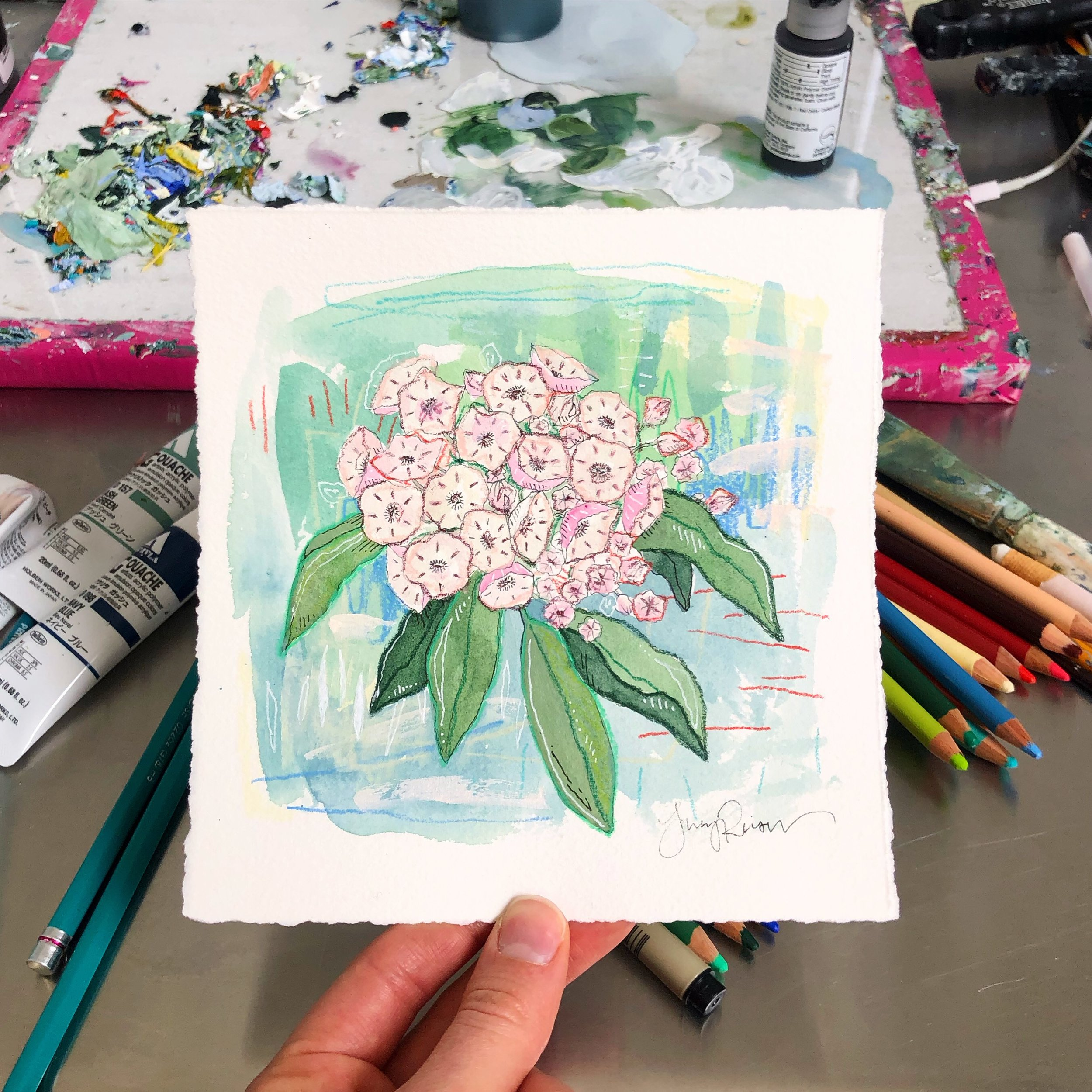 … which led to the first painting in my  Wildflower Wednesdays  summer series.