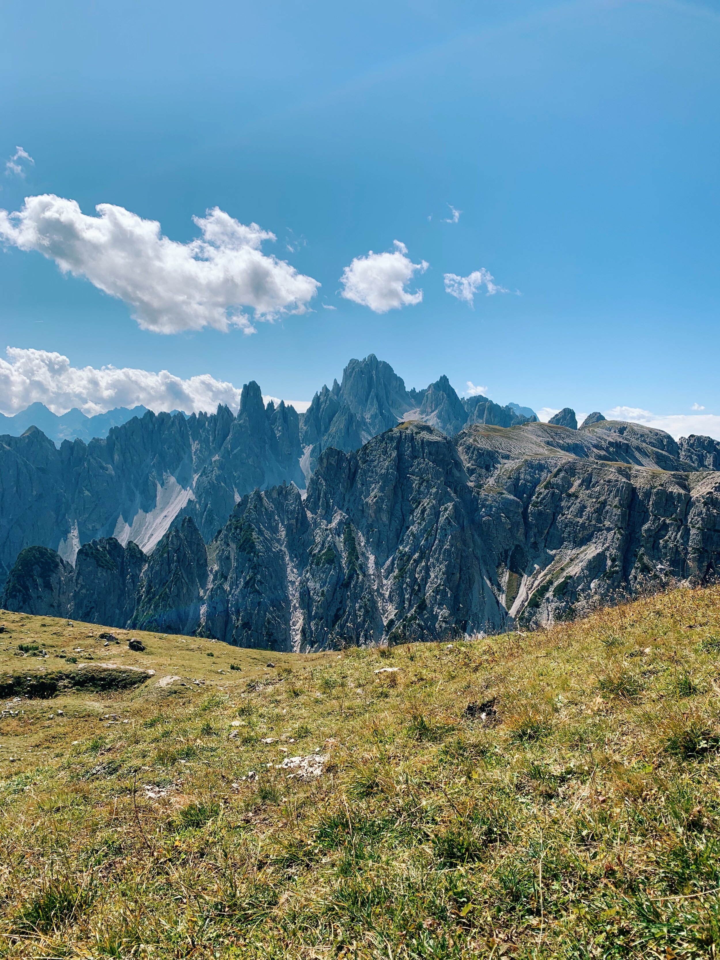 This particular cluster of Dolomites reminded me of cathedral spires. Enchanting.
