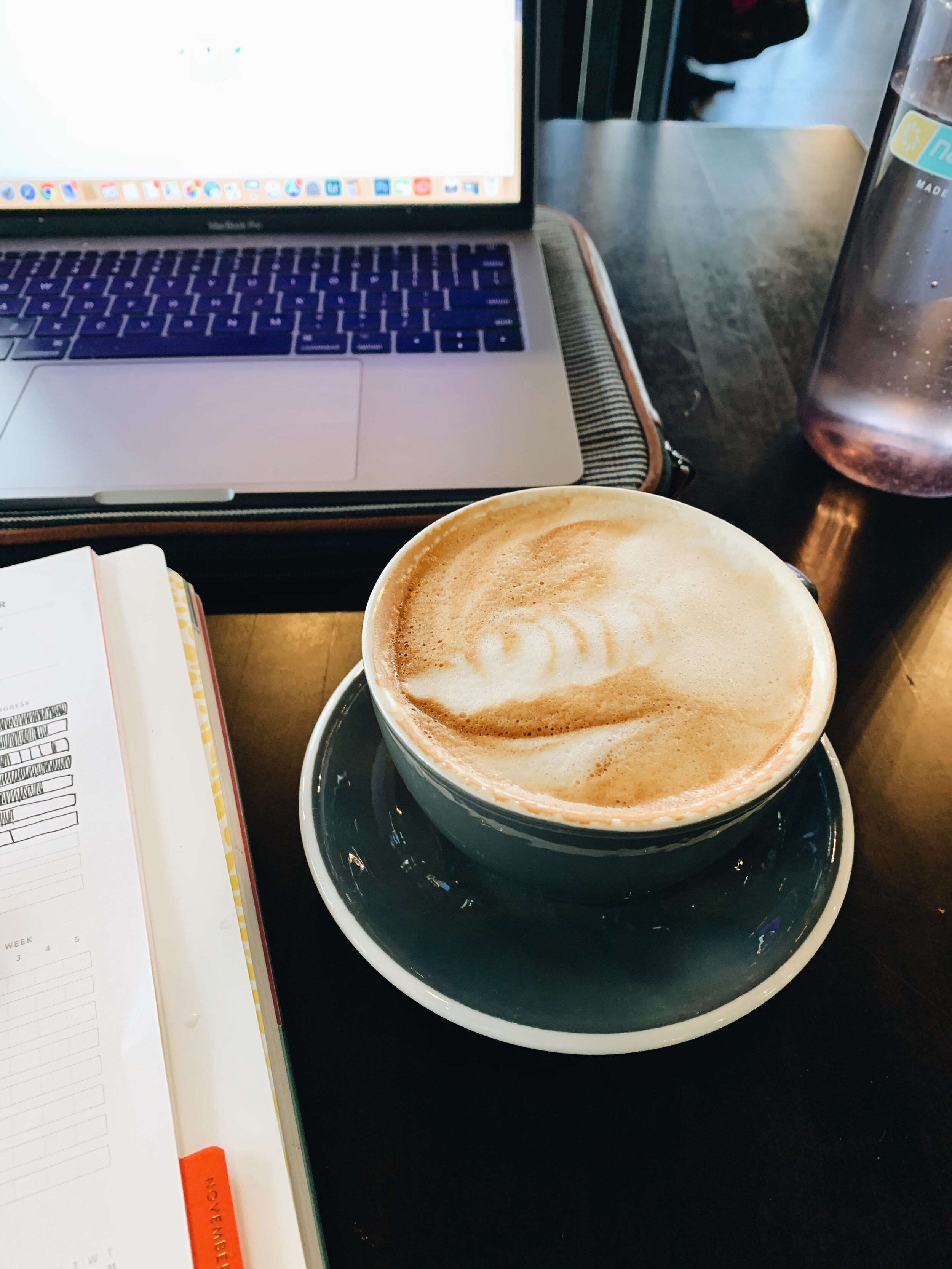 Dakota and I spent a few days in Colorado for a wedding and to visit family. While I was there I popped into a few lovely coffee shops to work on a few projects I'm excited to have in progress!