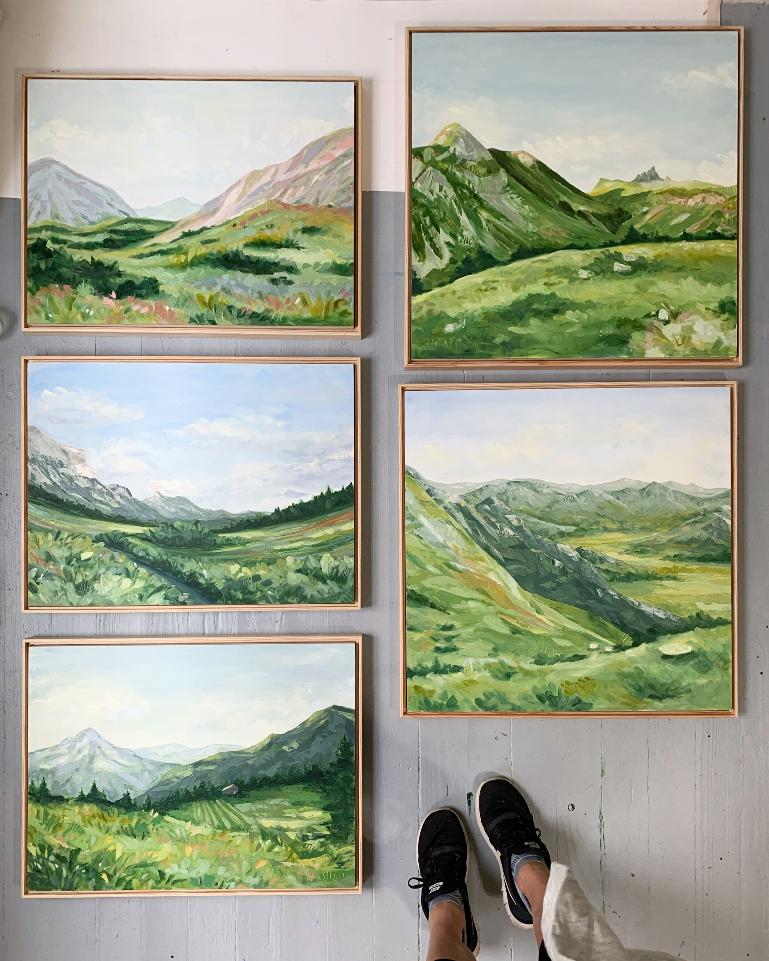 The Alps Series is underway! Each of these oil paintings will be framed and available November 14.