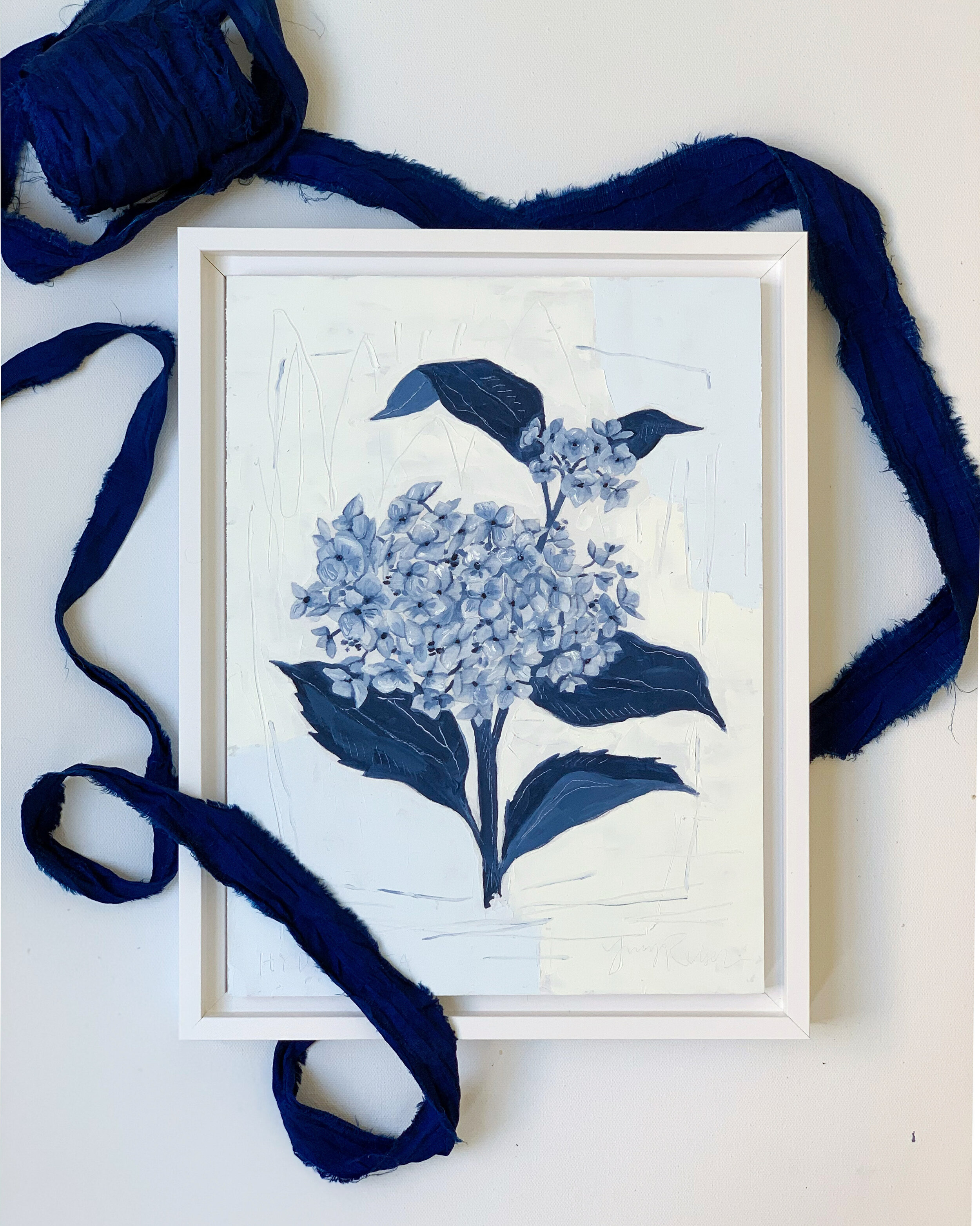 Shipped all the Blue Botanicals off to their new homes, including this lovely Hydrangea.