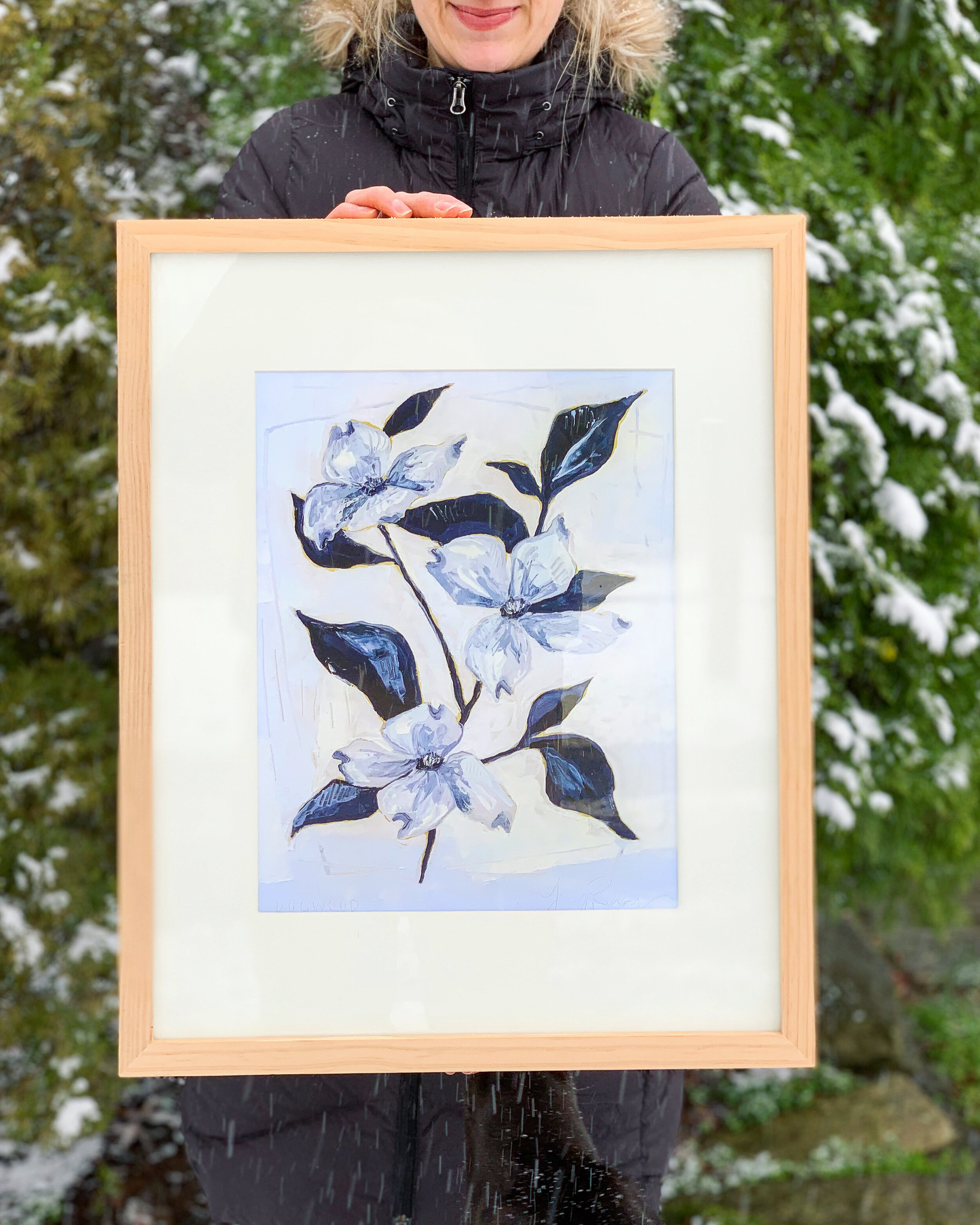 Spent a snow day making new Blue Botanical prints
