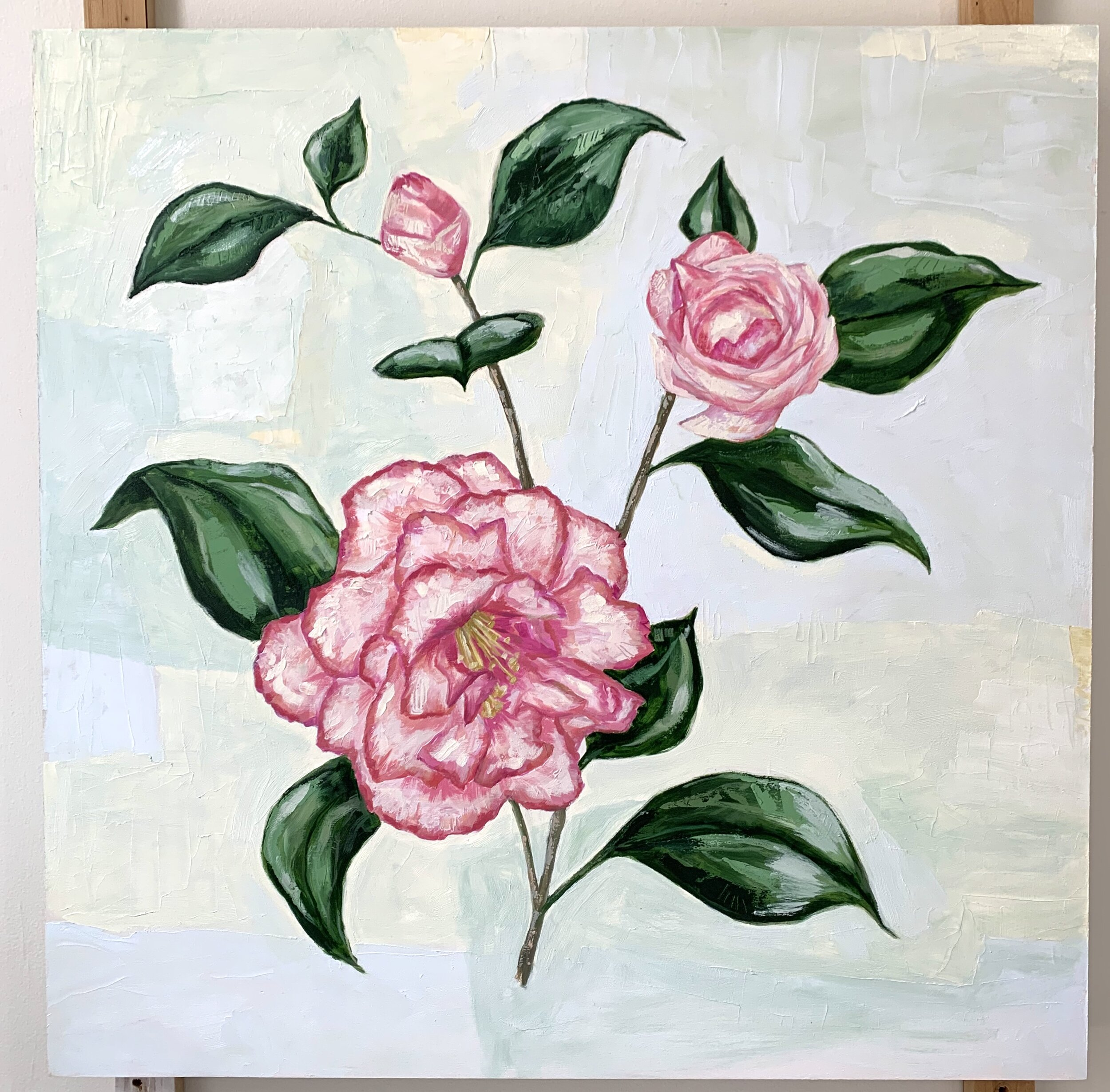 A special Camellia commission waiting to dry.