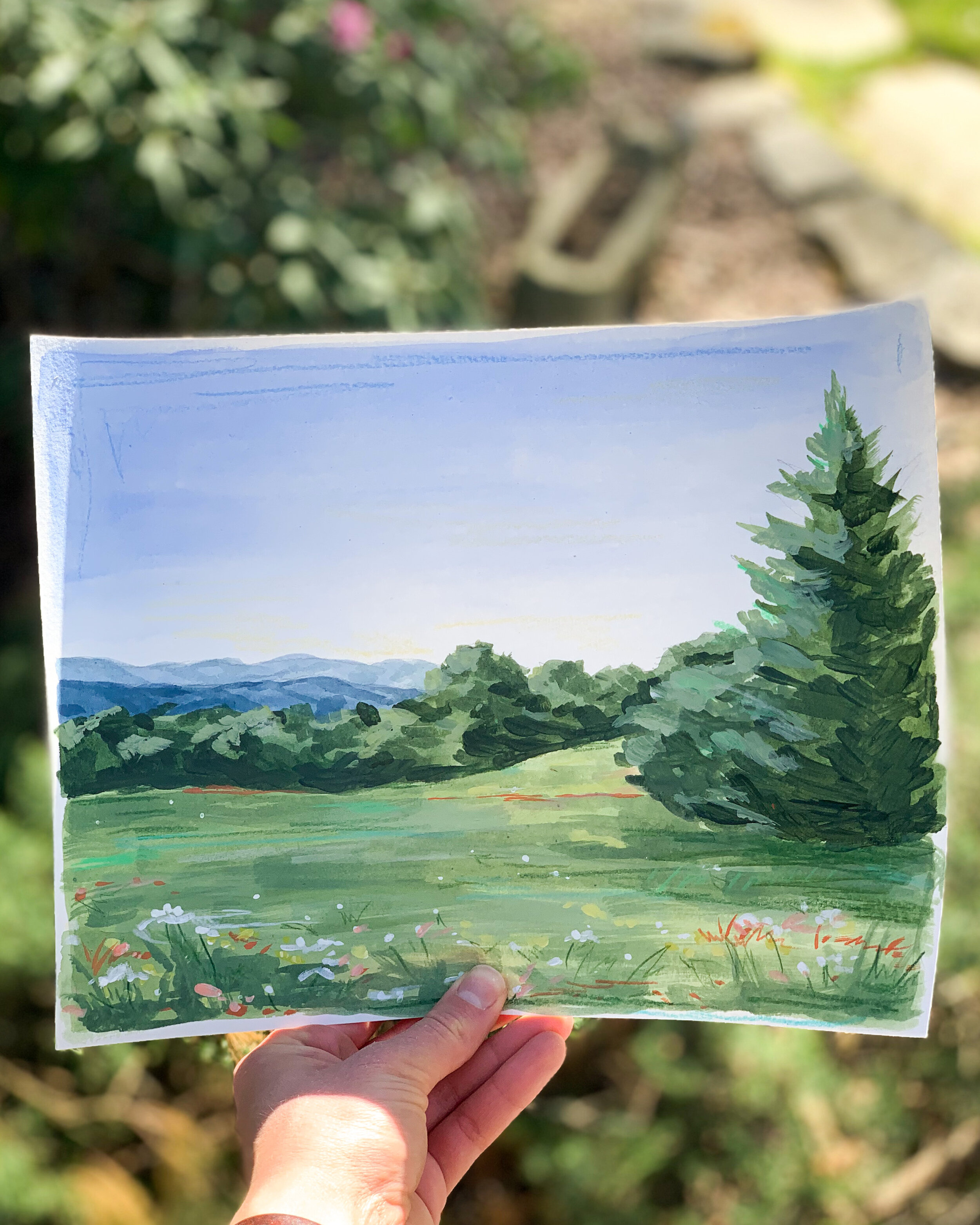I hosted a landscape painting class on IG live and LOVED getting to paint with everyone!