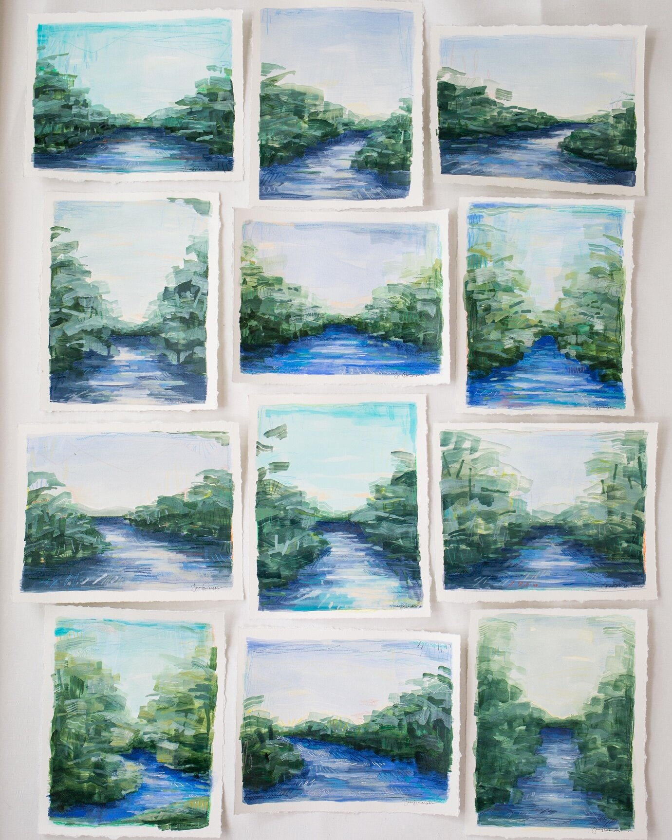 Lots of brand new river paintings!