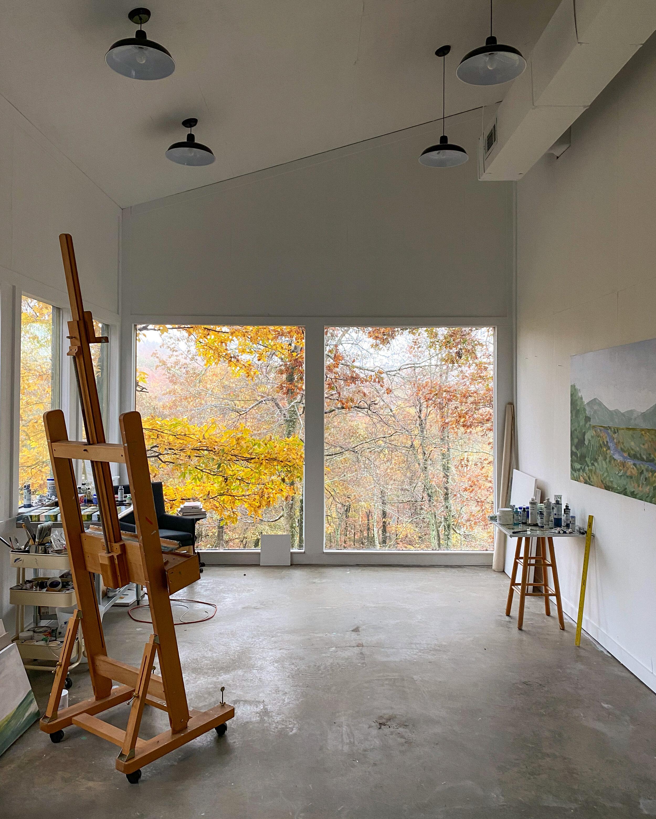 Studio windows looking their Fall Best.
