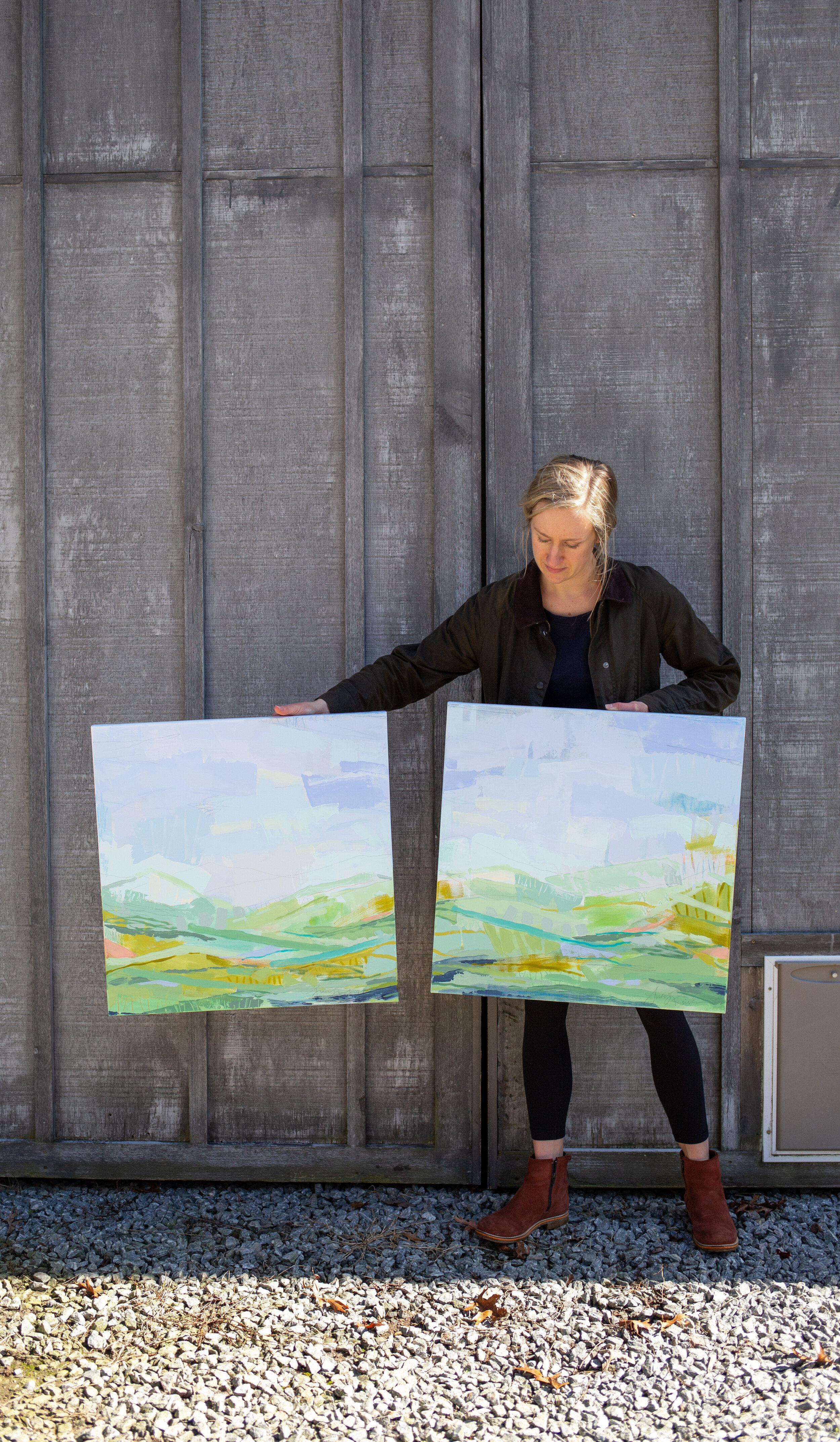 Sent a bundle of new paintings to Anne Irwin Fine Art