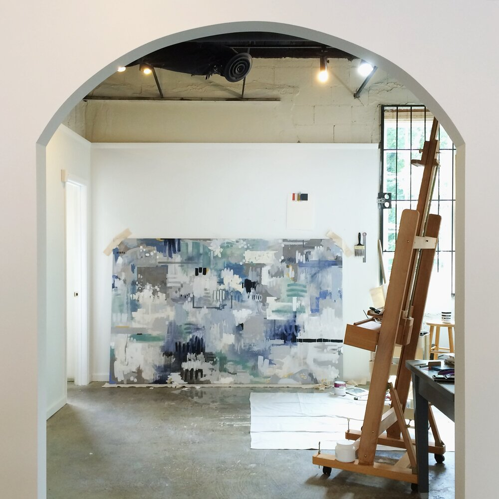 A couple studios in to my painting career