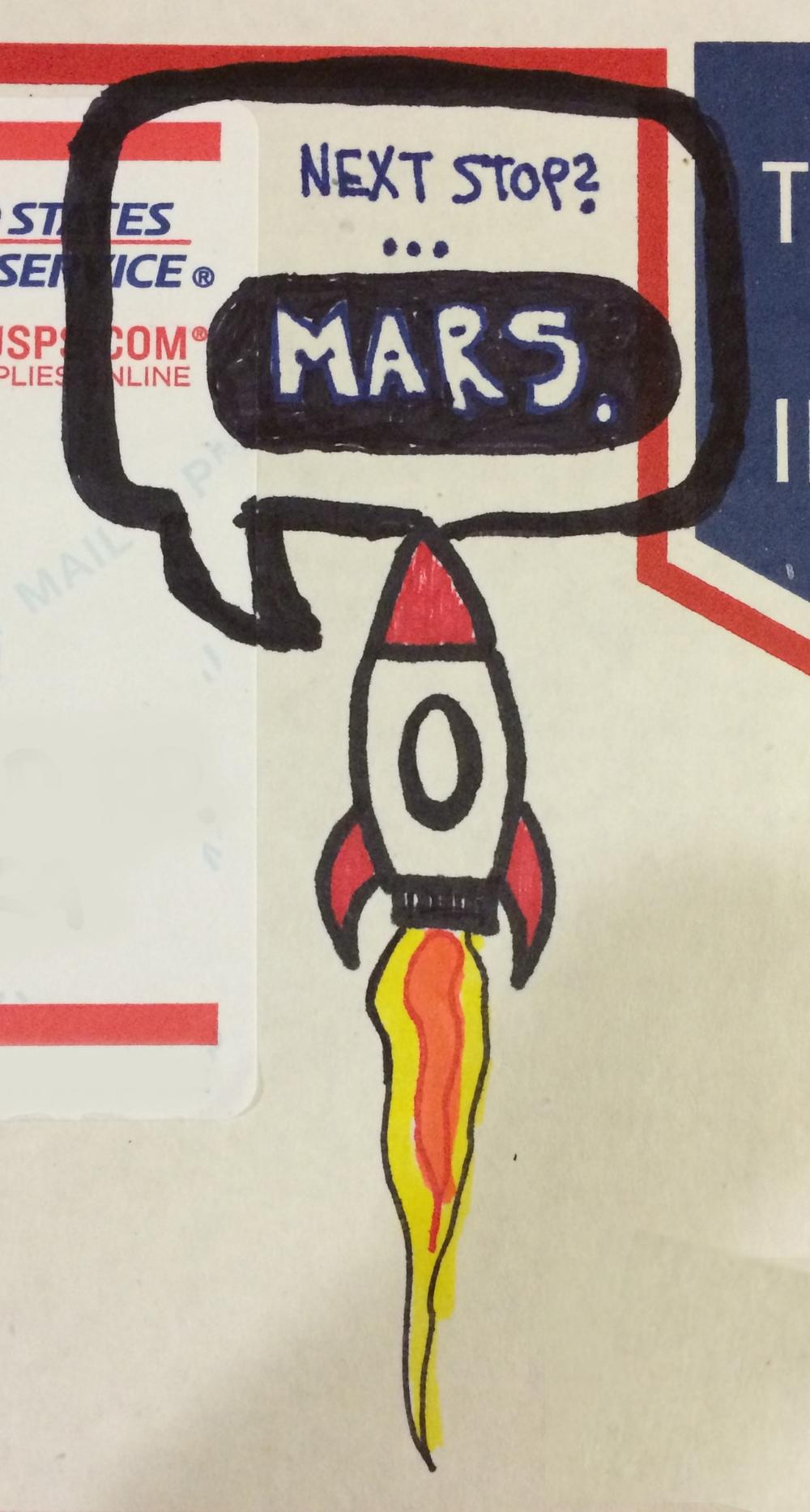 Next stop, Mars.