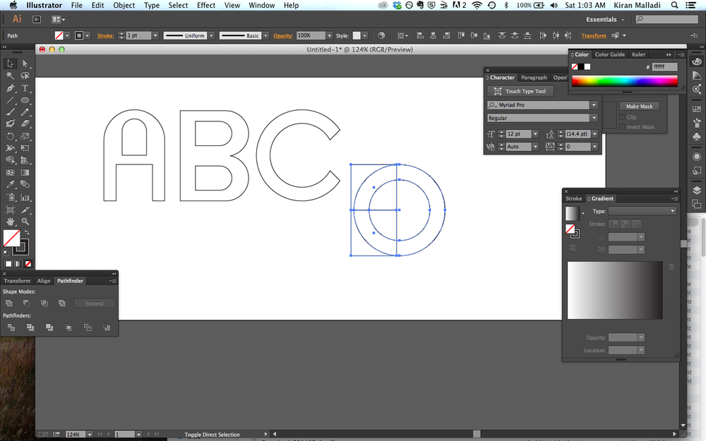 Squares + circles = ABCs.