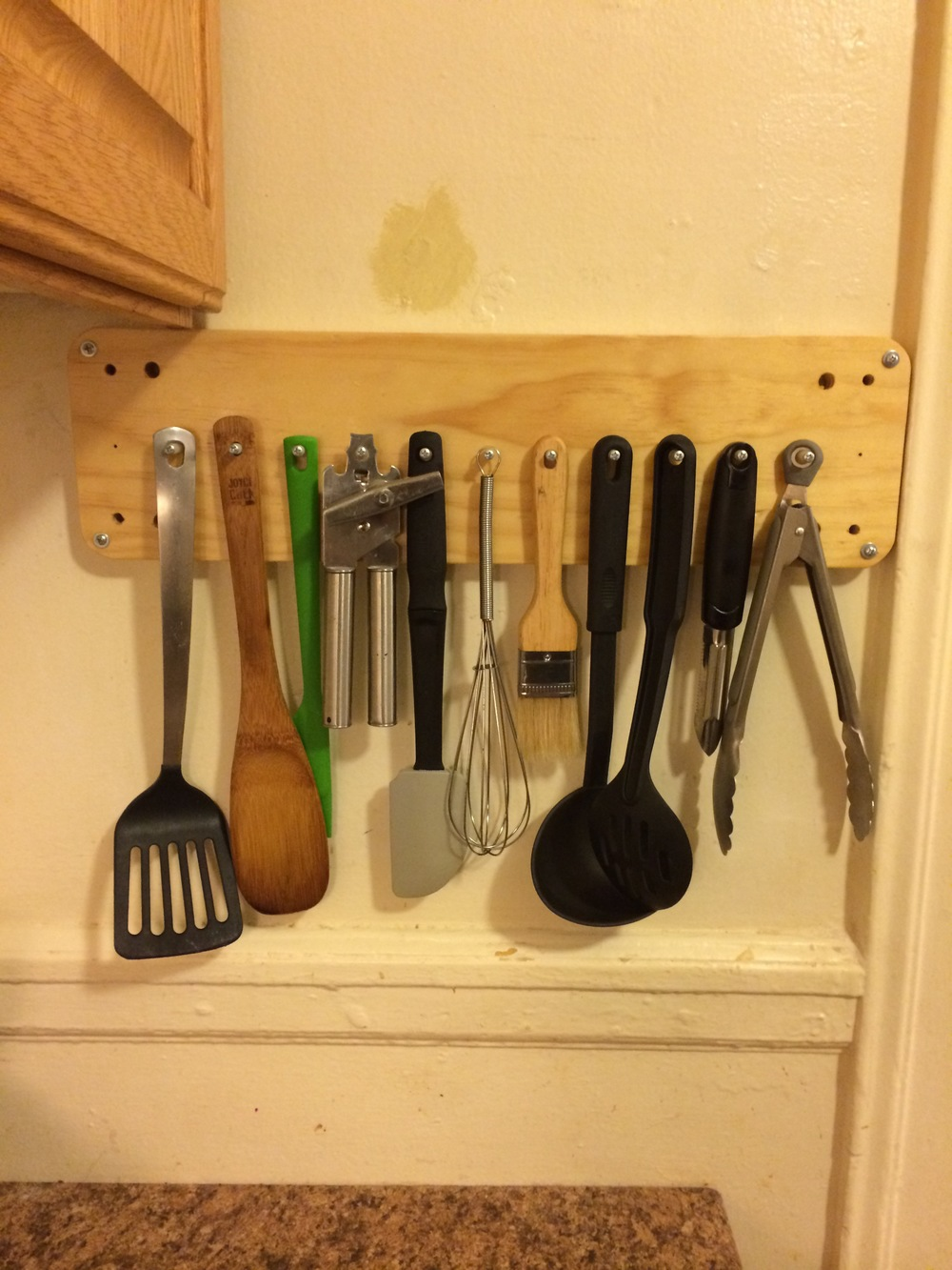 And the impulsively made spatula rack!