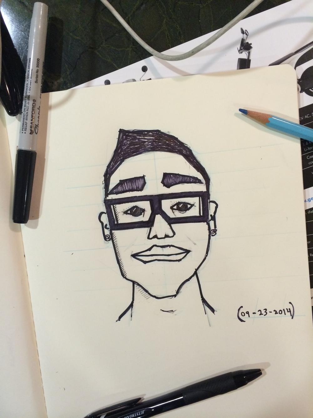 Self portrait.
