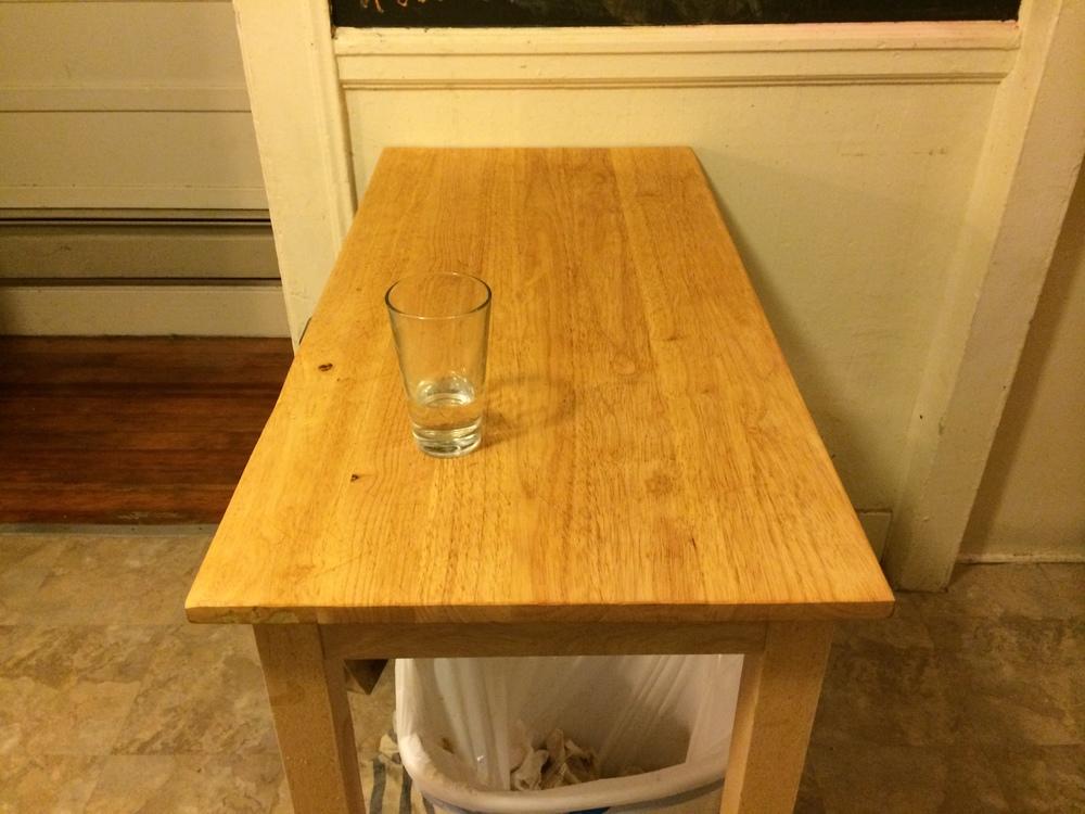 Kitchen prep table, round two.