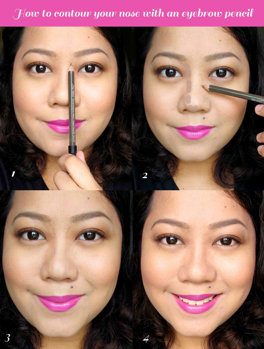 How To Contour The Nose With An Eyebrow Pencil Project Vanity