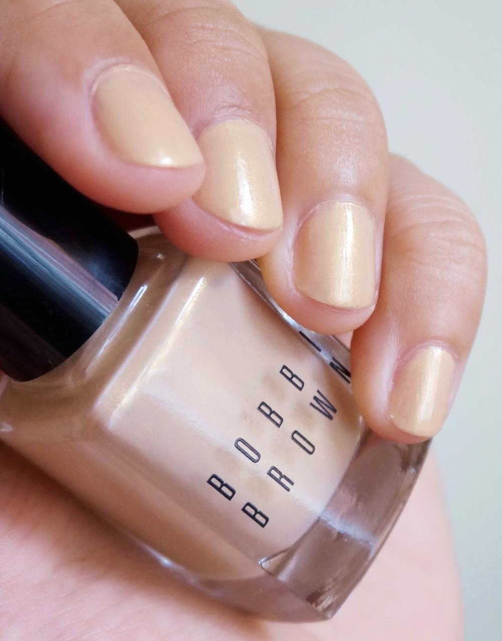 Bobbi Brown Week: Shimmer Nail Polish in Golden Beige — Project Vanity
