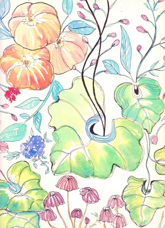 Plantasia (watercolor and drawing ink)